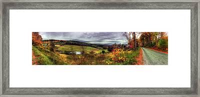 Cloudland Rd Panoramic - Vermont Framed Print