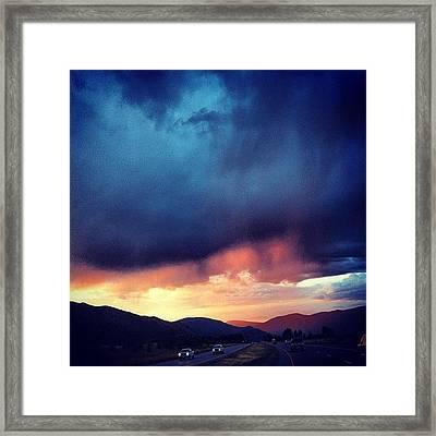 #cloudporn #cloudy #summer #rain Framed Print