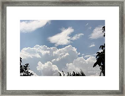 Clouds 2 Framed Print by Jackie Mestrom