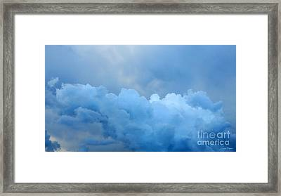 Clouds 2 Framed Print by Leanne Seymour