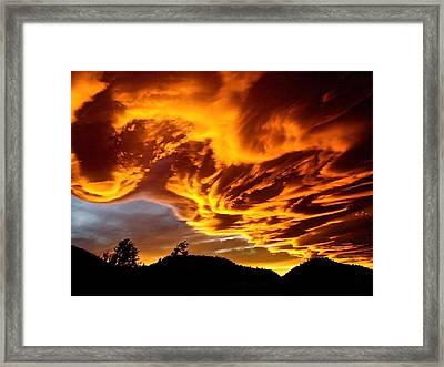 Clouds 2 Framed Print by Pamela Cooper