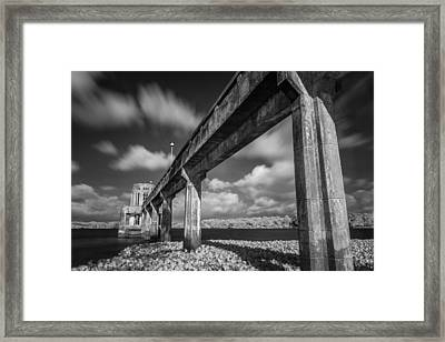 Clouds Above The Bridge Framed Print