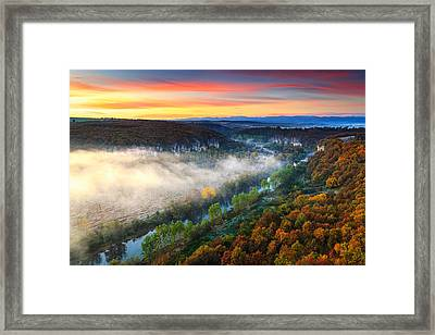 Clouds Above The River Framed Print