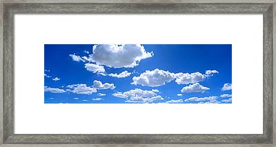 Clouds Abv Navajo Reservation Framed Print by Panoramic Images
