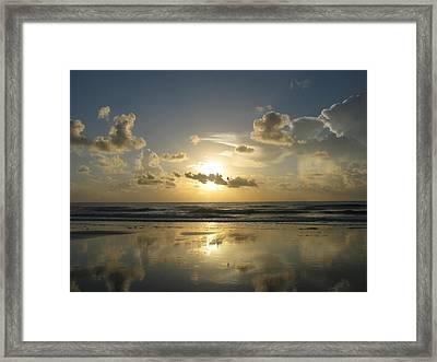 Clouds Across The Sun 2 Framed Print