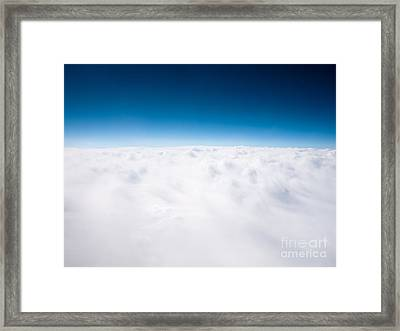Clouds Aerial From Above Background Framed Print by Paul Velgos