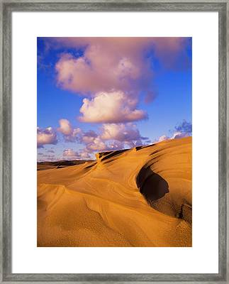 Clouds And Dunes Are Shape-shifters Framed Print by Robert L. Potts