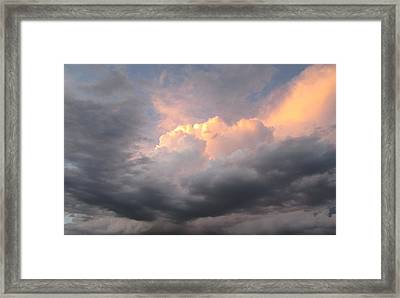 Clouds And God Framed Print by Cathy Long