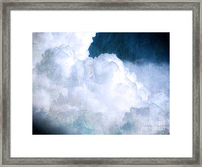 Clouds And Ice Framed Print