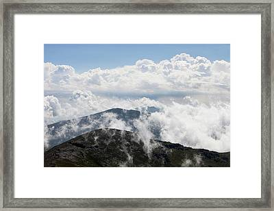 Clouds And Mist Framed Print by Ashley Cooper