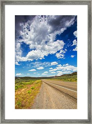 Clouds And Roads Framed Print
