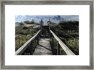 Clouds And Sand Dunes Framed Print by Patricia Januszkiewicz