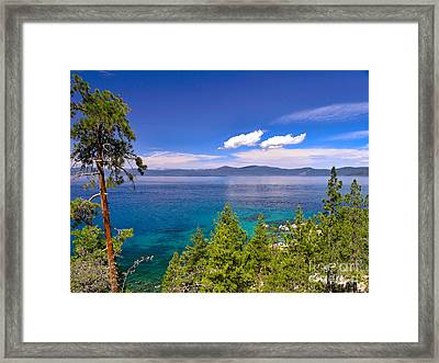 Clouds And Silence - Lake Tahoe Framed Print