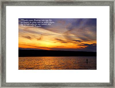 Clouds And Sunsets Framed Print by David Simons