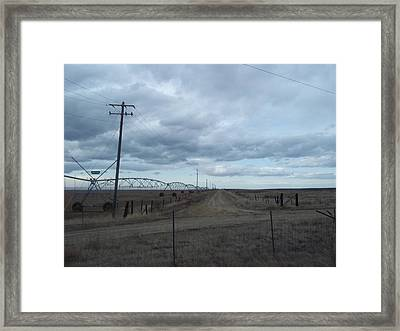 Clouds Framed Print by Angela Stout