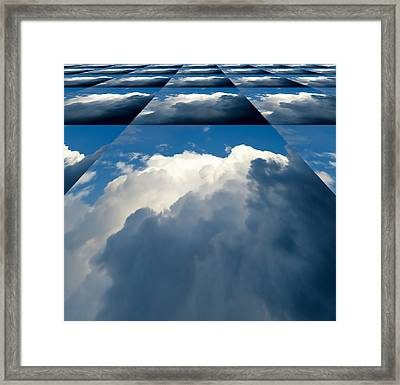 Clouds Ascending Framed Print by Pete Trenholm