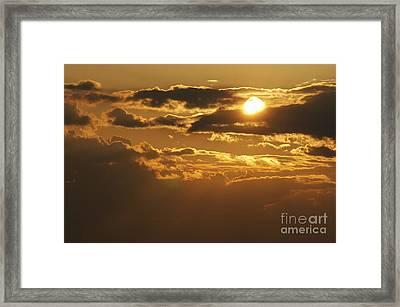 Clouds At Sunset Framed Print