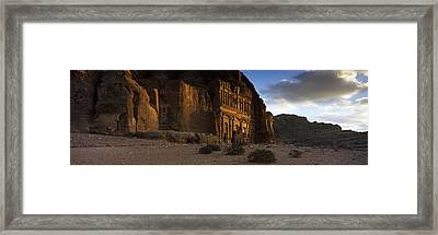 Clouds Beyond The Palace Tomb, Wadi Framed Print by Panoramic Images