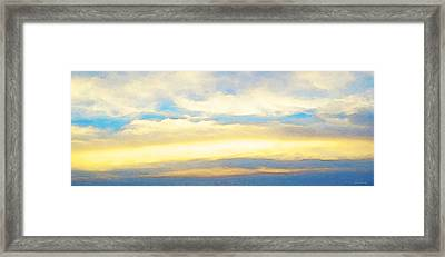 Clouds By Sharon Cummings Framed Print by Abstract Art