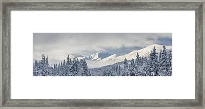 Clouds Clearing From The Kenai Framed Print by Kevin Smith