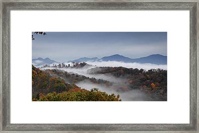 Clouds Fill A Mountain Valley That Framed Print