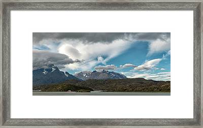 Clouds Fill The Sky Above Mountains Framed Print by Panoramic Images
