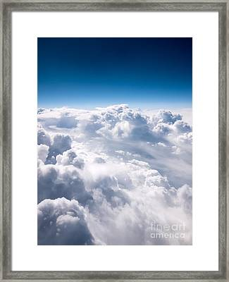 Clouds From Above Framed Print by Paul Velgos