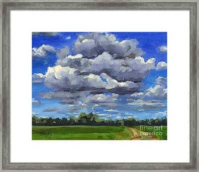 Clouds Got In My Way Sold Framed Print