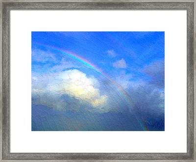 Clouds In Ireland Framed Print by Bruce Nutting
