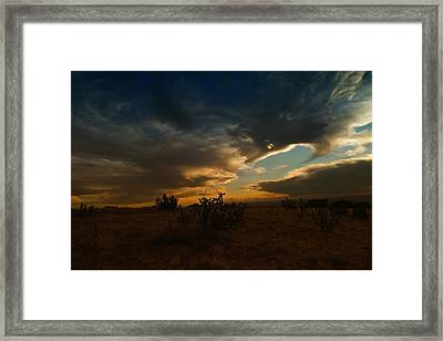 Clouds In New Mexico Framed Print by Jeff Swan