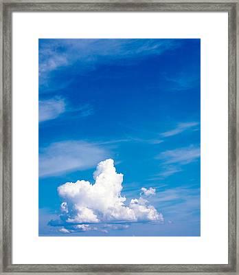 Clouds In Sky Framed Print