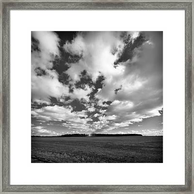 Clouds In The Heartland Framed Print by Dick Wood