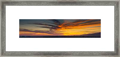 Clouds In The Sky At Dusk, Marina Del Framed Print by Panoramic Images