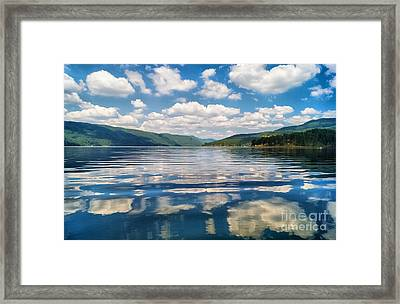 Clouds In The Water Framed Print by Stela Taneva