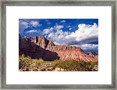 Clouds In Valley Of Fire Framed Print by  Onyonet  Photo Studios