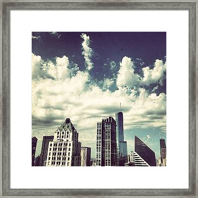 Clouds Framed Print by Jill Tuinier
