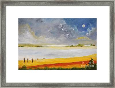 Clouds Kisses Framed Print