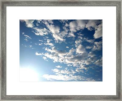 Framed Print featuring the photograph Clouds by Lucy D