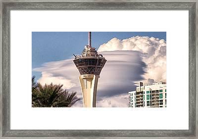 Clouds Make Vegas Framed Print