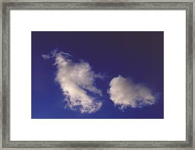 Framed Print featuring the photograph Clouds by Mark Greenberg