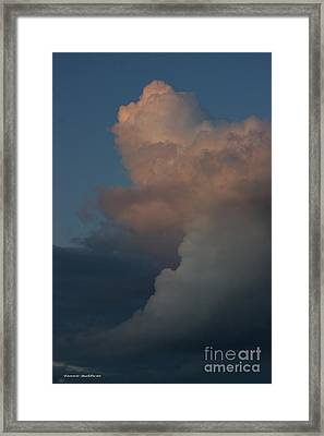 Framed Print featuring the photograph Clouds Meeting by Tannis  Baldwin