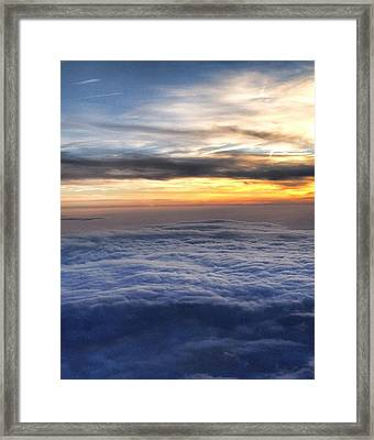 Clouds Framed Print by Michael Fitzpatrick