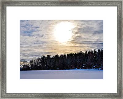 Clouds N Sun Framed Print by Libby  Lord