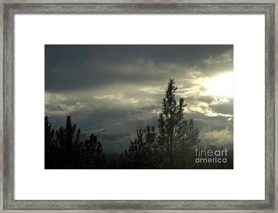 706p Clouds Framed Print