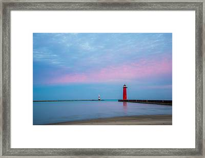 Framed Print featuring the photograph Clouds Of Cotton Candy by Steven Santamour