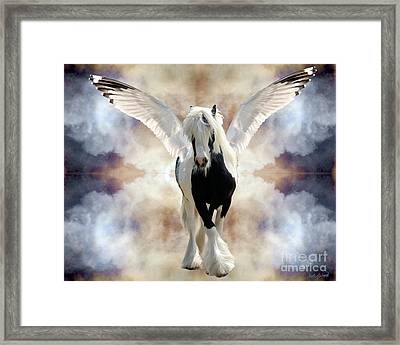 Clouds Of Glory Framed Print by Judy Wood