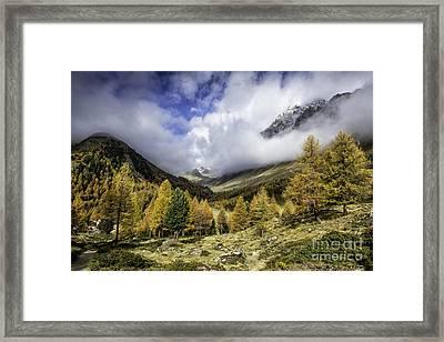 Clouds Of Pontresina Switzerland Framed Print
