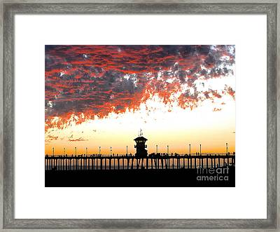 Framed Print featuring the photograph Clouds On Fire by Margie Amberge