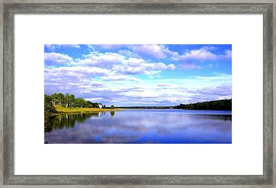 Clouds On Water Framed Print by Jason Lees