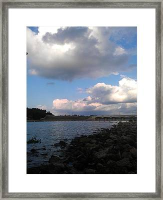Clouds On Water Framed Print by Kim Martin